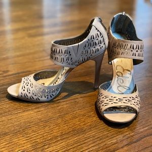 Sam Edelman tan heels with cut outs. Size 9